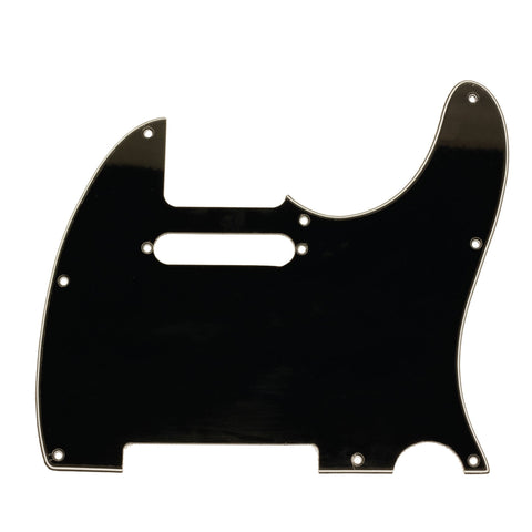 Black Replacement 3 Ply Tele Style Pickguard for Standard Tele Electric Guitar
