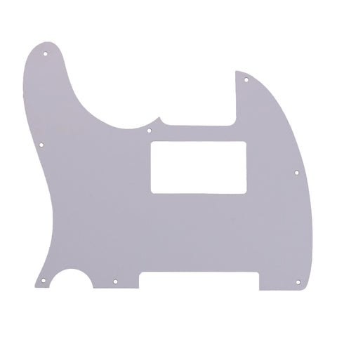 White Replacement 3 Ply Tele Style Humbucker Pickguard for Standard Tele Electric Guitar