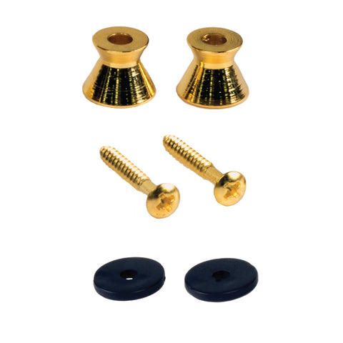 Replacement Gold Guitar Strap Buttons - 2 Pack