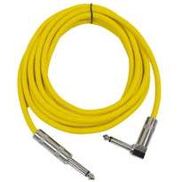Right Angle to Straight Guitar Cable 10'