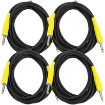 SAGC20 - Guitar or Instrument Cables 20' (4 Pack)