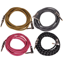 SAGCR-12-VAR - 4 Pack of 12 Foot Various Color Guitar / Instrument Cables