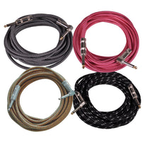 SAGCR-20-VAR - 4 Pack of 20 Foot Various Color Guitar / Instrument Cables