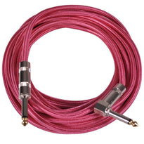 SAGCRPK-20 - 20' Pink Woven Cloth Guitar/Instrument Cable