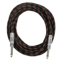 SAGCSBR-18 - 18' Black & Red Woven Guitar/Instrument Cable