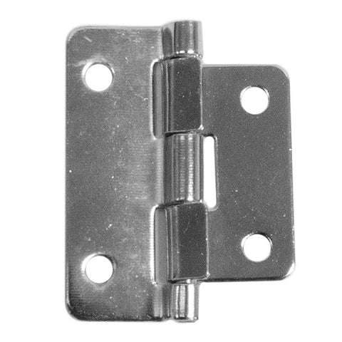 Chrome Lift Off Hinge - 2 Piece
