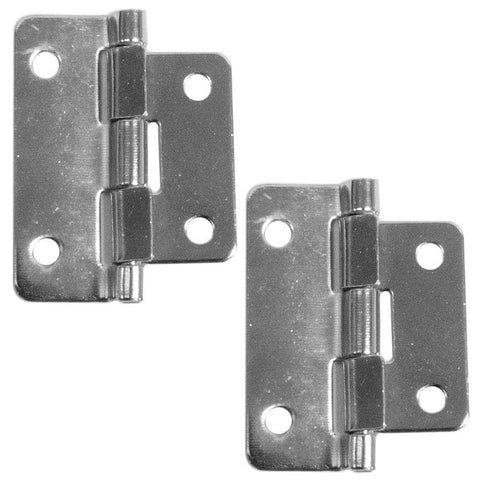 Pair of Chrome Lift Off Hinges - 2 Piece