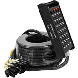 SAJT-24x4x100 - 24 Channel XLR 100' Snake Cable (TRS Returns)