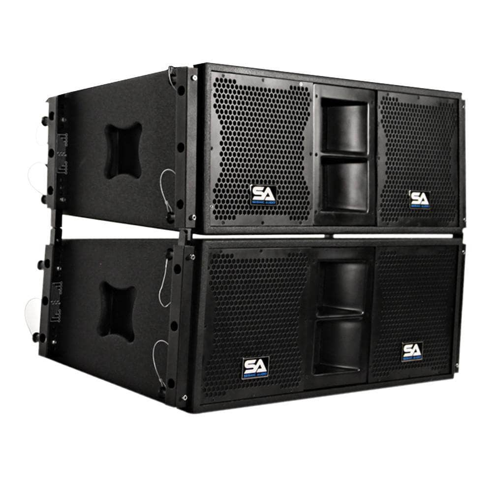 Pair Of Passive 2x10 Line Array Speakers With Dual