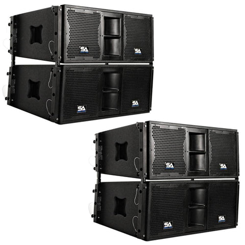 SALA-210-PKG1 - Four Passive 2x10 Line Array Speakers with Dual Compression Drivers