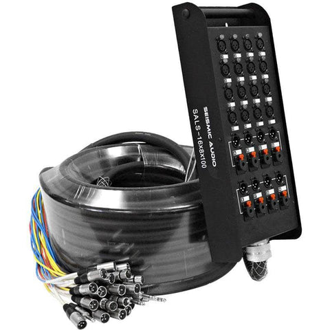 SALS-16x8x100 - 16 Channel 100' Snake Cable (XLR & TRS Returns)