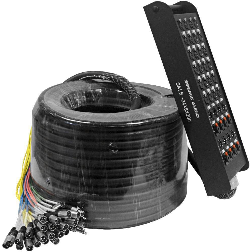 SALS-24x8x200 - 24 Channel 200' Snake Cable (XLR & TRS Returns)