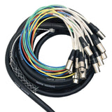 SALS-12x4x25 - 12 Channel 25' Snake Cable (XLR & TRS Returns)