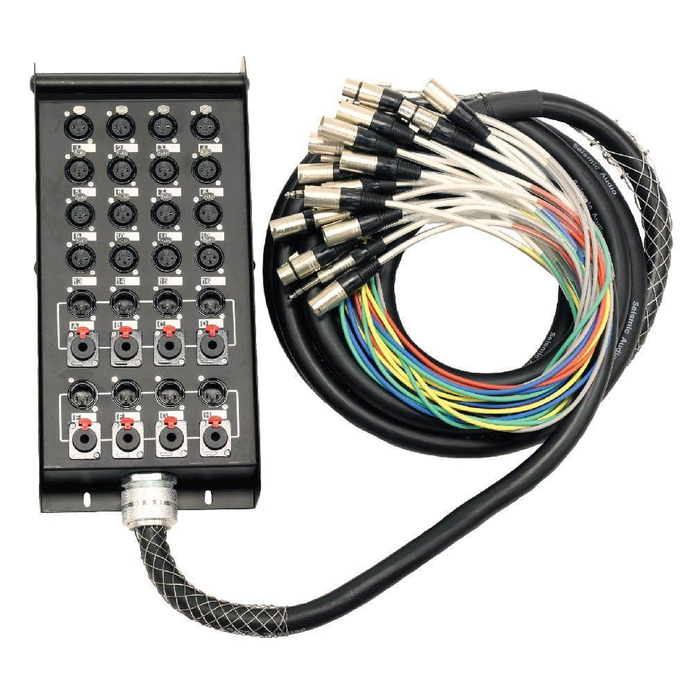 16 Channel Snake Cable | 16 Channel Sends | 8 Returns (4 XLR and 4 ...