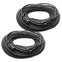 Pair of Heavy Duty XLR Microphone Cables - 100 Feet