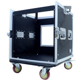 10 Space Rack Case with Slant Mixer Top
