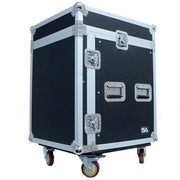 12 Space Rack Case with Slant Mixer Top