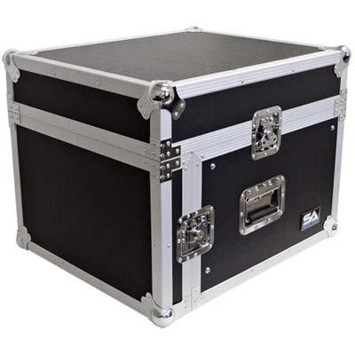 6 Space Rack Case with Slant Mixer Top