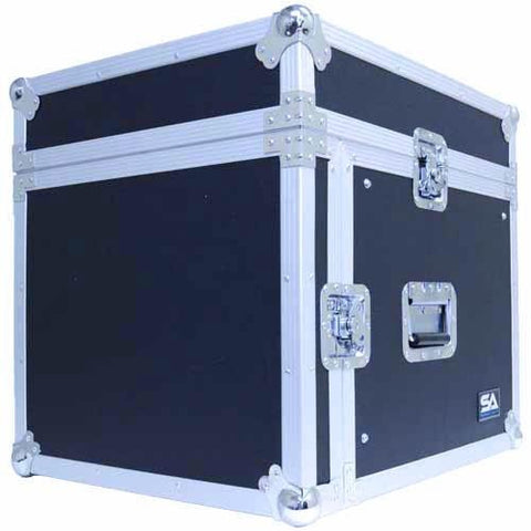 8 Space Rack Case with Slant Mixer Top