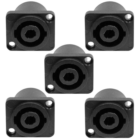 SAPT223 (5 Pack) - 2 Pole Speakon Panel Mount Connectors