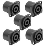SAPT240 (5 Pack)- 4 Pole Speakon Panel Mount Connectors
