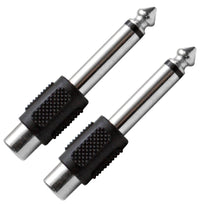 "SAPT100 (2 Pack) - RCA Female to 1/4"" Male Adapter"