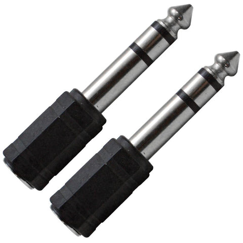 "SAPT101 (2 Pack) - 1/8"" Female to 1/4"" TRS Male Adapter"