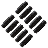 "SAPT120 (10 Pack) - 1/8"" Female to 1/8"" Female Couplers (Black & Silver)"