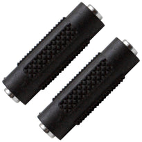 "SAPT120 (2 Pack) - 1/8"" Female to 1/8"" Female Couplers (Black & Silver)"