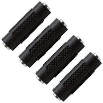 "SAPT120 (4 Pack) - 1/8"" Female to 1/8"" Female Couplers (Black & Silver)"
