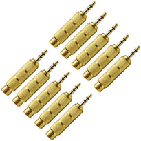 "SAPT122 (10 Pack) - 1/4"" Female to 1/8"" Male Adapter (Gold)"