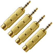 "SAPT122 (4 Pack) - 1/4"" Female to 1/8"" Male Adapter (Gold)"
