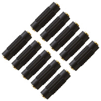 "SAPT124 (10 Pack) - 1/8"" Female to 1/8"" Female Couplers (Black & Gold)"