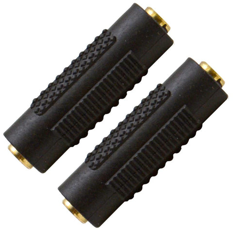 "SAPT124 (2 Pack) - 1/8"" Female to 1/8"" Female Couplers (Black & Gold)"