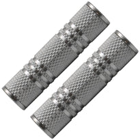 "SAPT125 (2 Pack) - 1/8"" Female to 1/8"" Female Coupler (Silver)"