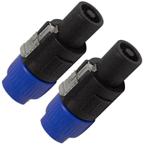 SAPT215 - Speakon to 1/4 Inch Female Mono Adapters (2 Pack)