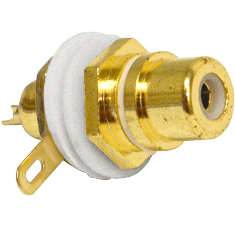 SAPT230 - RCA Gold Plated Chassis Mount Connector - White
