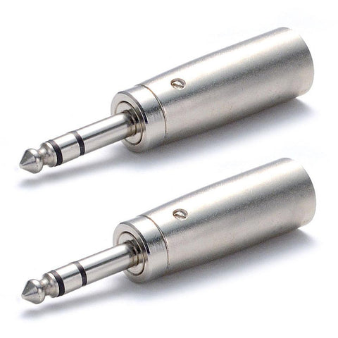 "SAPT2 (2 Pack) - XLR Male to Stereo 1/4"" Male Cable Adapter"