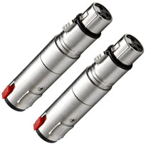 "SAPT5 (2 Pack) - XLR Female to 1/4"" Balanced Female Cable Adapter"