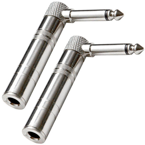 "SAPT61-2Pack- Right Angle Guitar Cable Adapter 1/4"" (2 Pack)"