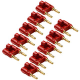 Banana Connectors - 10 Pack of Red