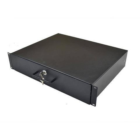 RD2U - 2 Space Metal Rack Case Locking Drawer