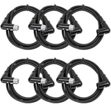SARAX6 - 6 PACK of 6' Right Angle XLR Patch Cables