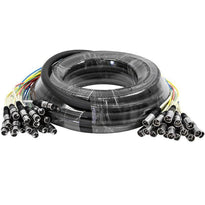 SARLX-16x50 - 16 Channel XLR Colored Snake Cable 50'