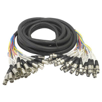 SARLX-24x25 - 24 Channel XLR Colored Snake Cable 25'