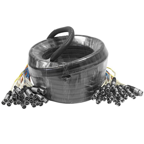 SARLX-24x50 - 24 Channel XLR Colored Snake Cable 50'