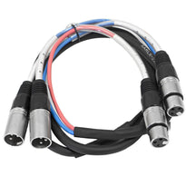 SARLX-2x5 - 2 Channel XLR Colored Snake Cable 5'