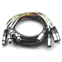 SARLX-4x15 - 4 Channel XLR Colored Snake Cable 15'