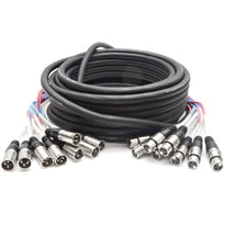 SARLX-8x50 - 8 Channel XLR Colored Snake Cable 50'