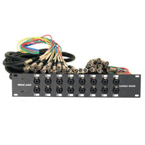 SARMSS-16x530 - 16 Channel XLR TRS Combo Splitter Snake Cable - 5' and 30' XLR trunk